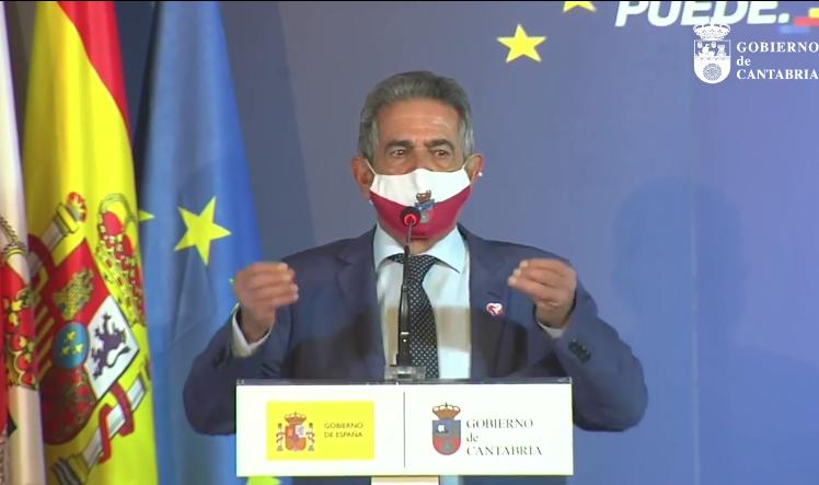 Revilla pide a Sánchez su apoyo a los proyectos de Cantabria