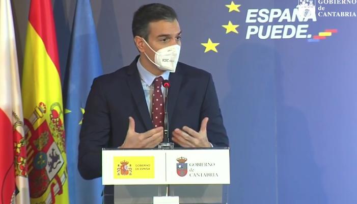 Sánchez prevé que en mayo o junio estén vacunados ya unos 20 millones de españoles