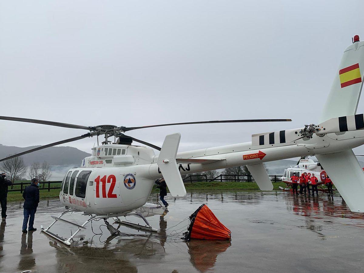 Cantabria incorpora segundo helicóptero para lucha incendios