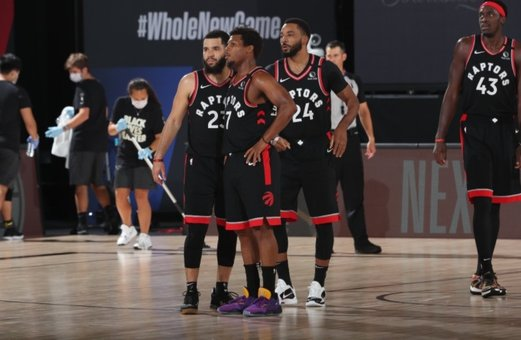 Toronto Raptors en la burbuja NBA de Disney. / E. PRESS