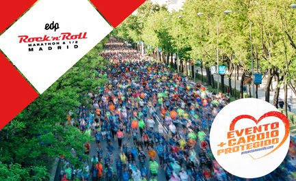 Un total de 35.000 personas correrán hoy en EDP Rock n Roll Madrid Maratón, con dispositivos sanitario B+Safe