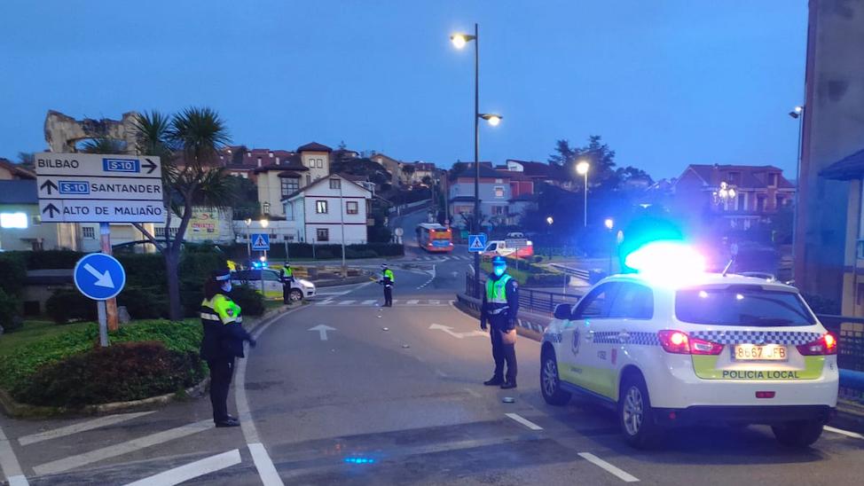 Detenido conductor que se dio a la fuga tras colisionar contra coche aparcado