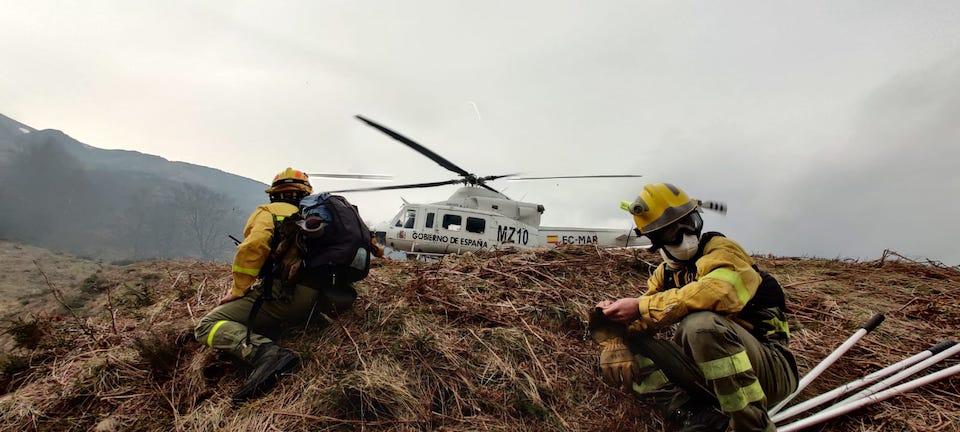 Solo dos incendios activos en Cantabria de los 19 provocados
