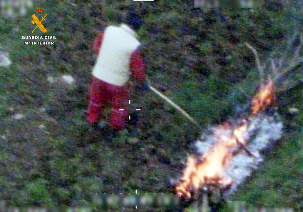 Investigados dos hombres como autores de un incendio forestal en Peñarrubia