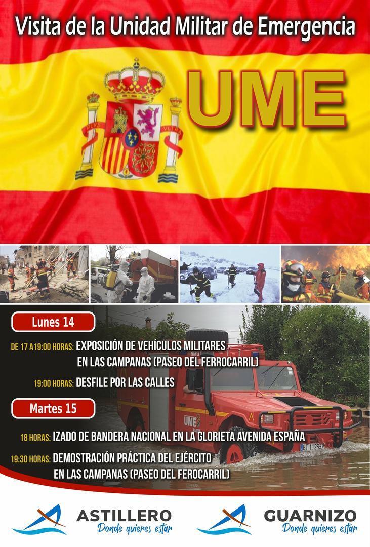 Vehículos militares de la UME estarán expuestos y harán una demostración en Astillero