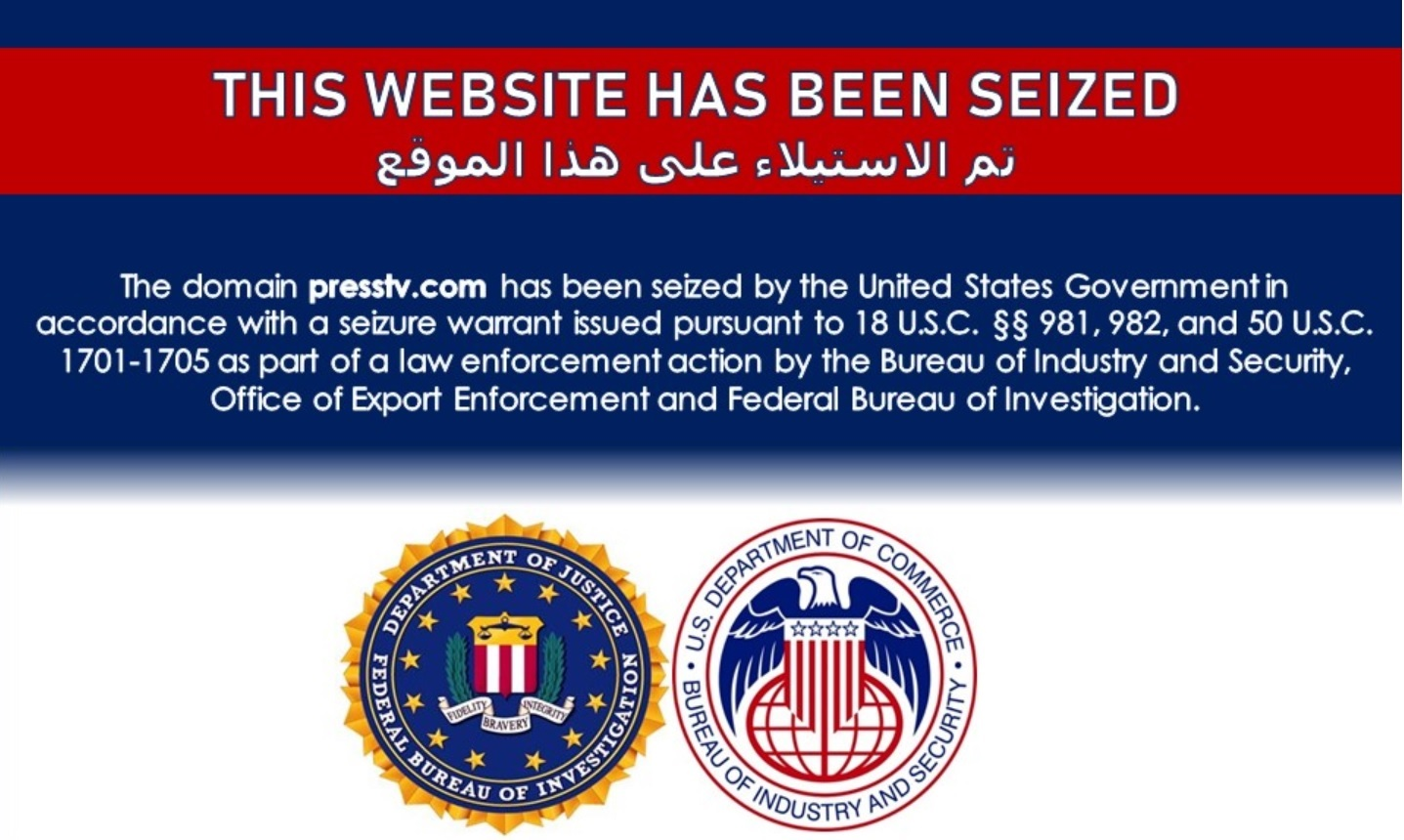 US seizes domains of Iran's Press TV and other state news agencies