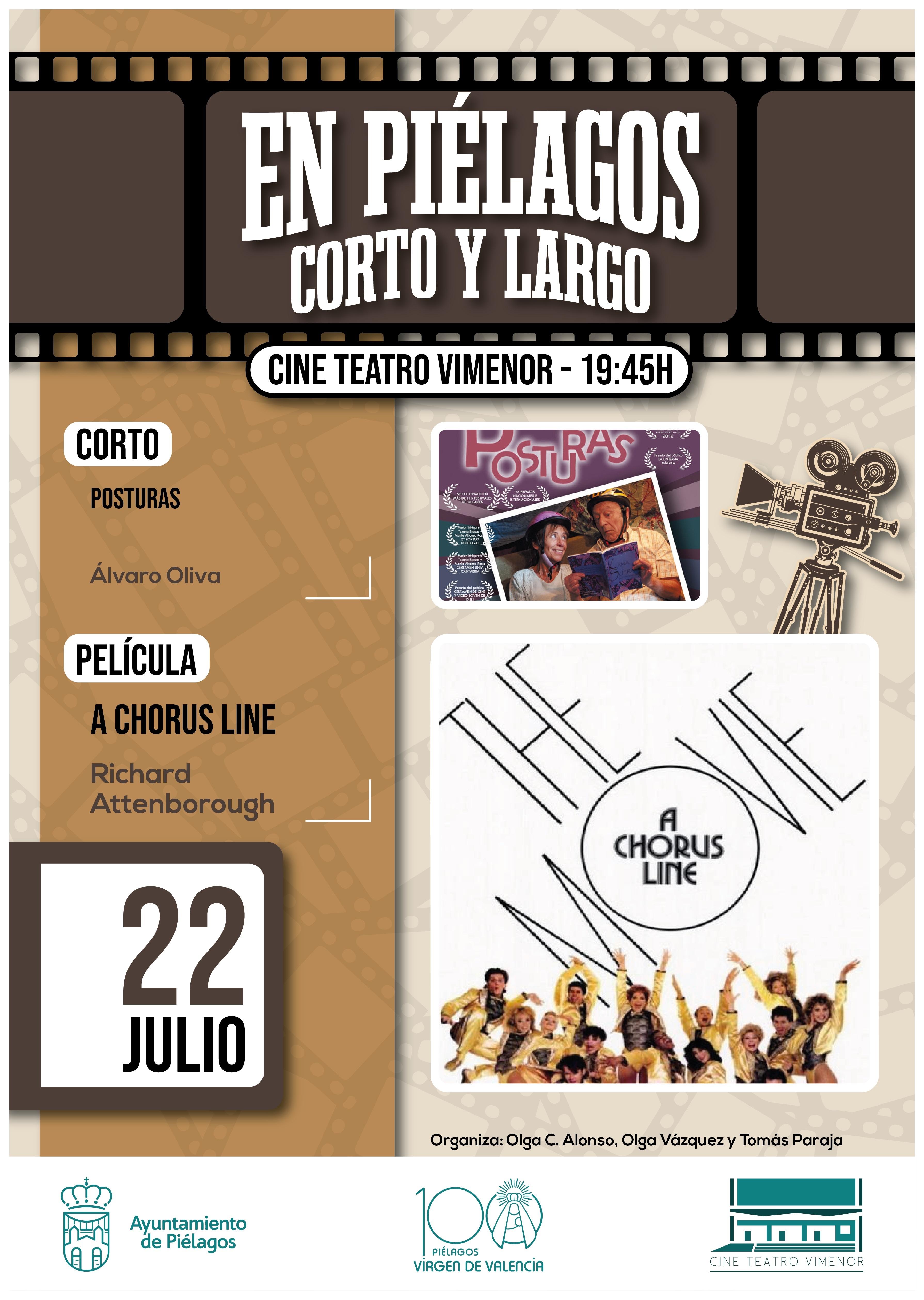 Piélagos proyecta el cortometraje 'Posturas' y el musical 'A Chorus Line'