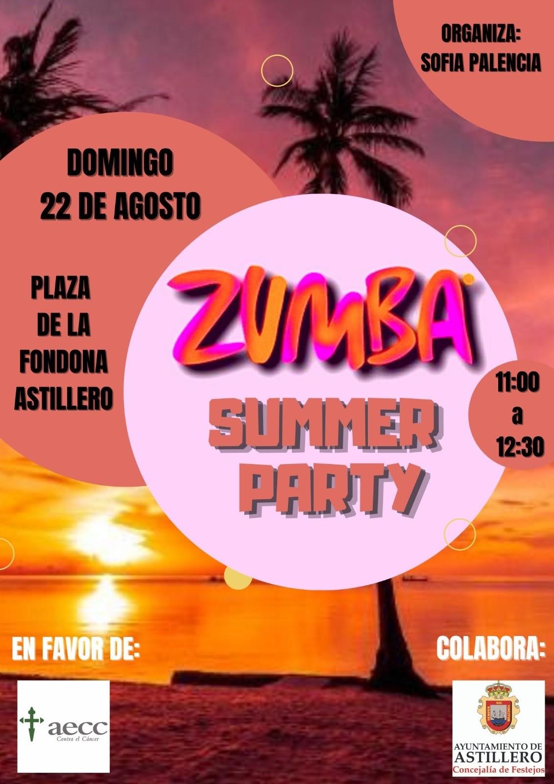 Astillero celebra mañana una 'Zumba Summer Party' en favor de la Asociación Española contra el Cáncer