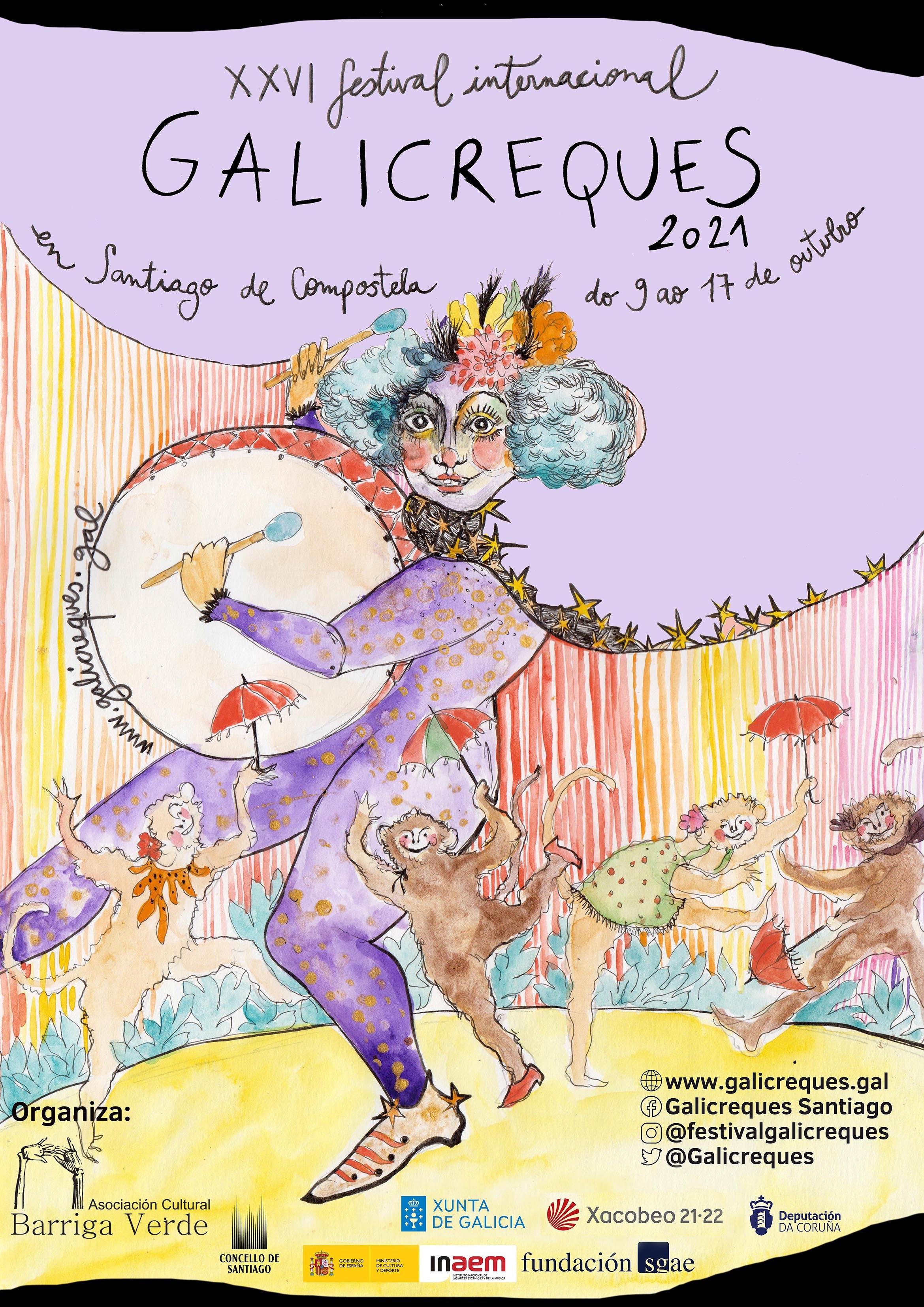 GALICIA.-El XXVI Festival Galicreques, que se celebrará entre el 9 y el 17  de octubre, recuperará las funciones escolares