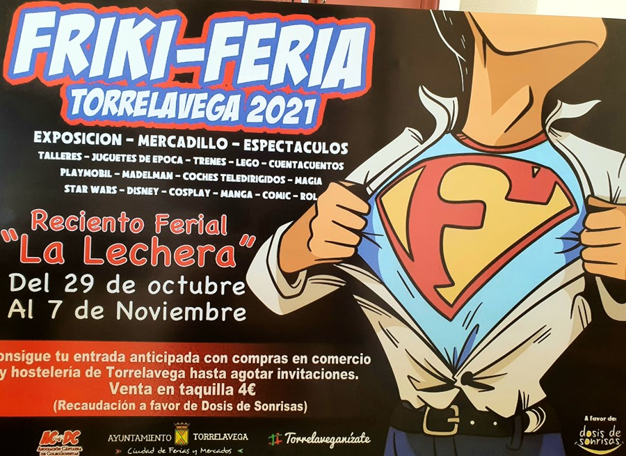 Las invitaciones para la Friki Feria Torrelavega se podrán conseguir entre el 25 y el 29 de octubre